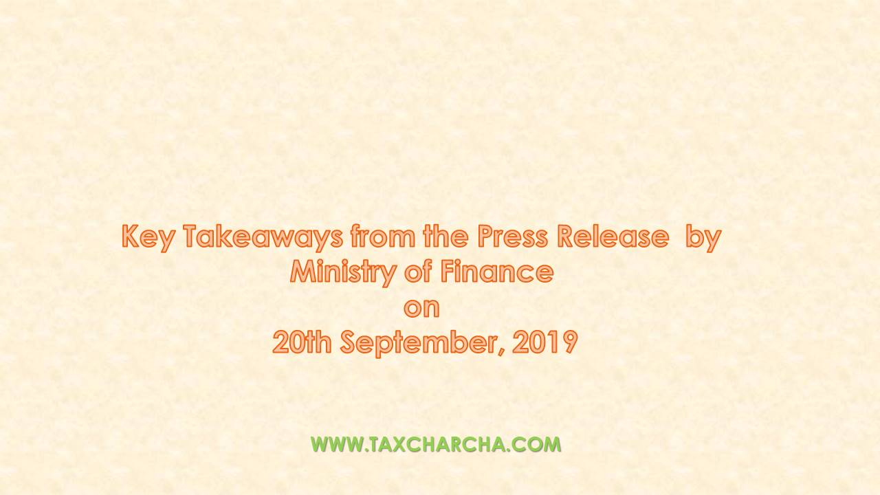Key Takeaways from the Press Release by Ministry of Finance